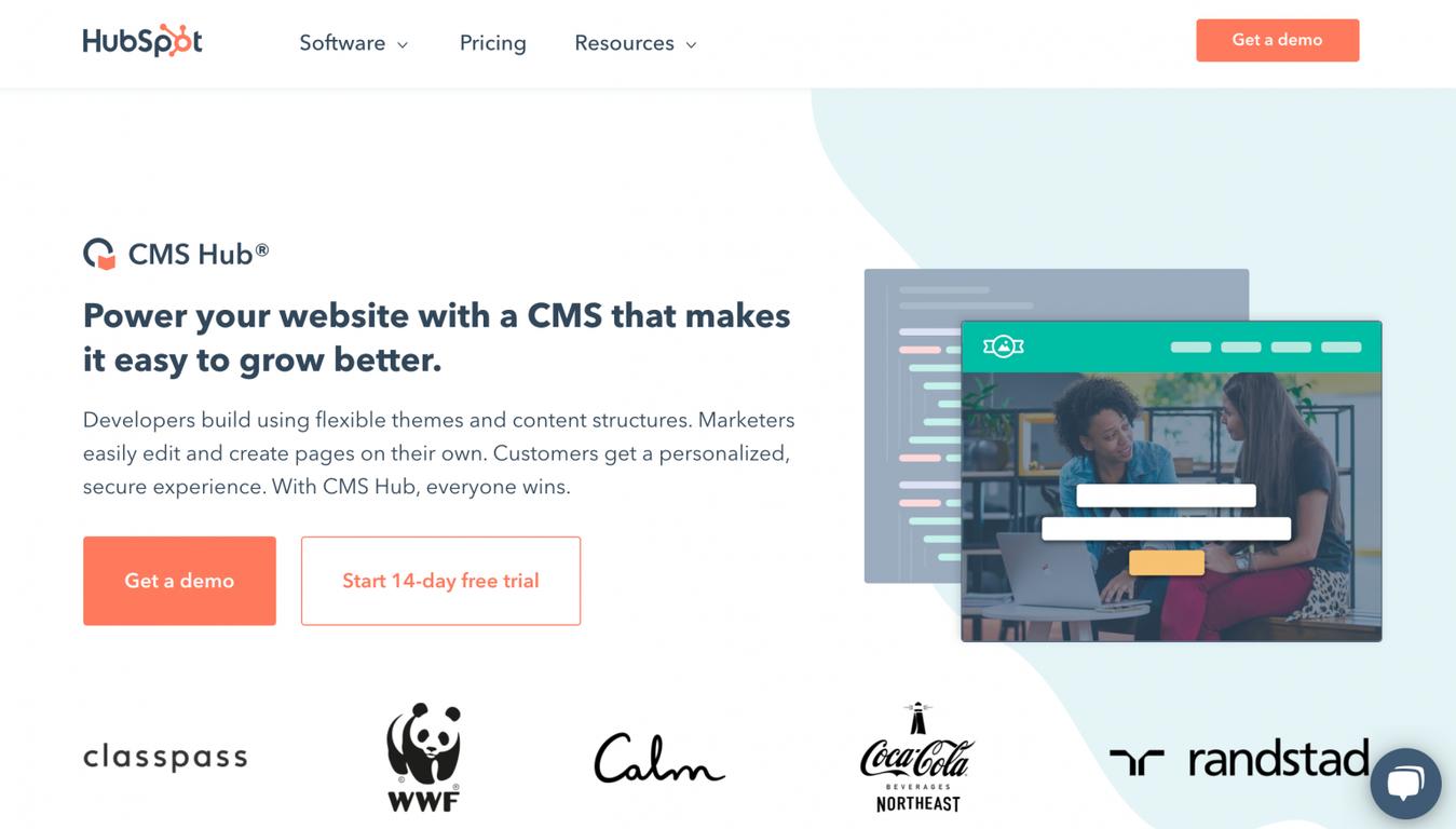 HubSpot CMS landing page