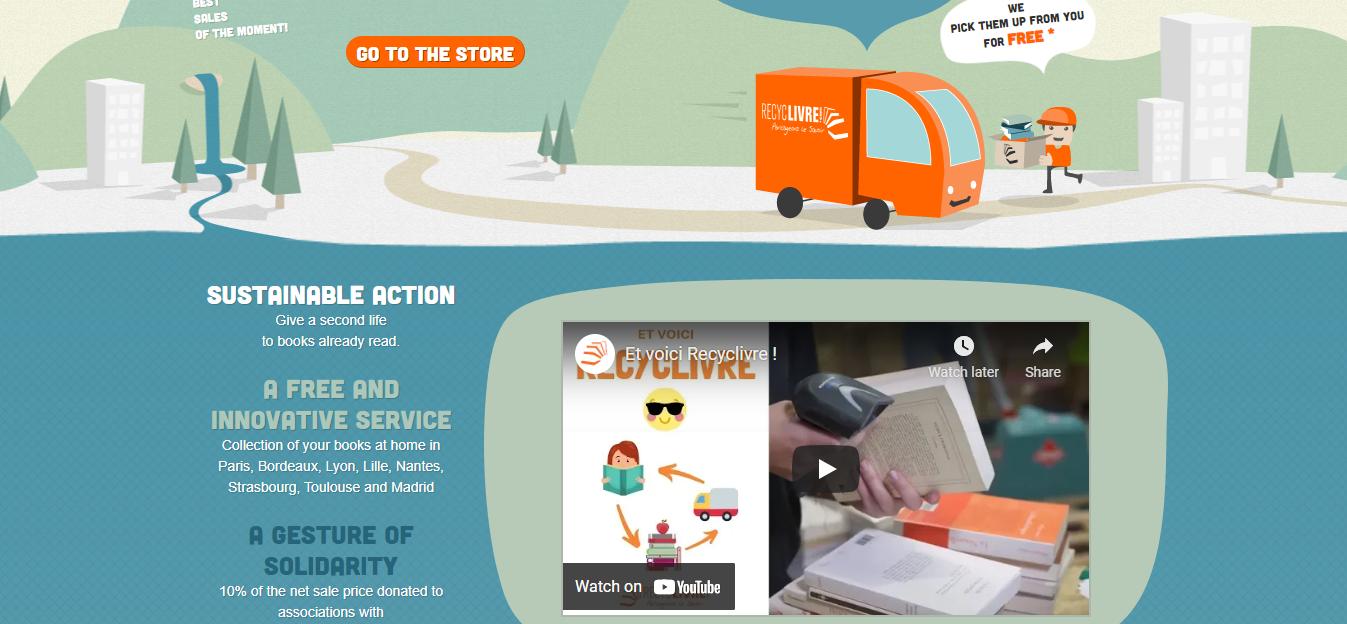 Reyclivre website homepage
