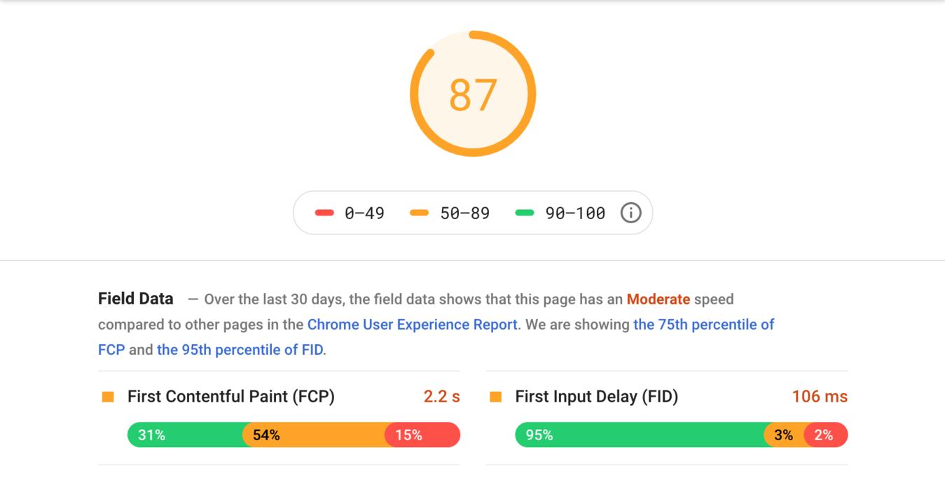 Insight kecepatan website