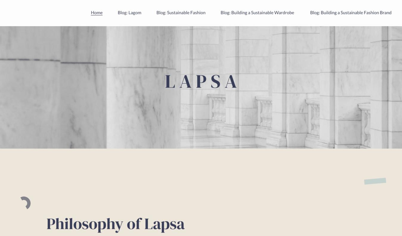 Landing page di Lapsa