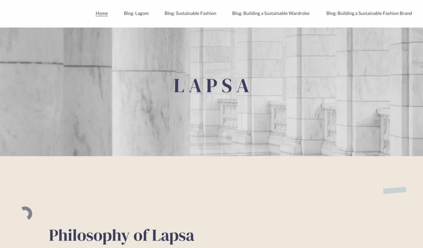 Lapsa landing page