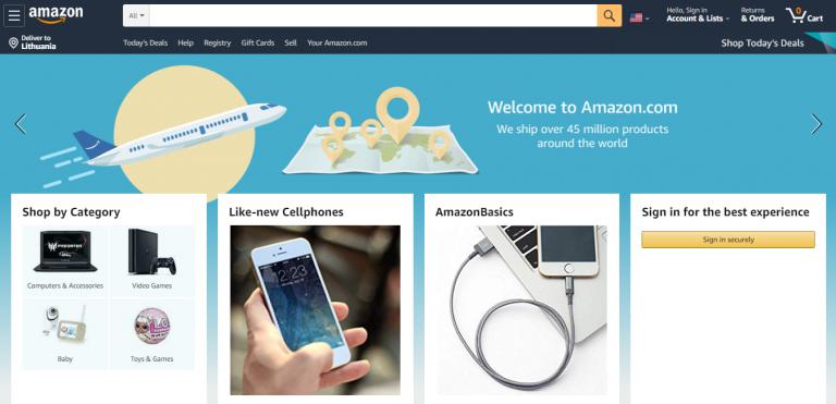 Exemplo de loja virtual