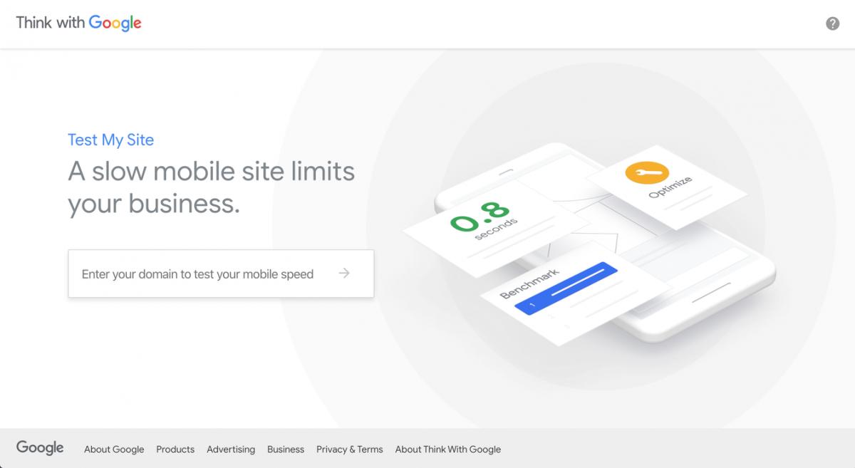 Ferramenta Test My Site para testar a velocidade do site