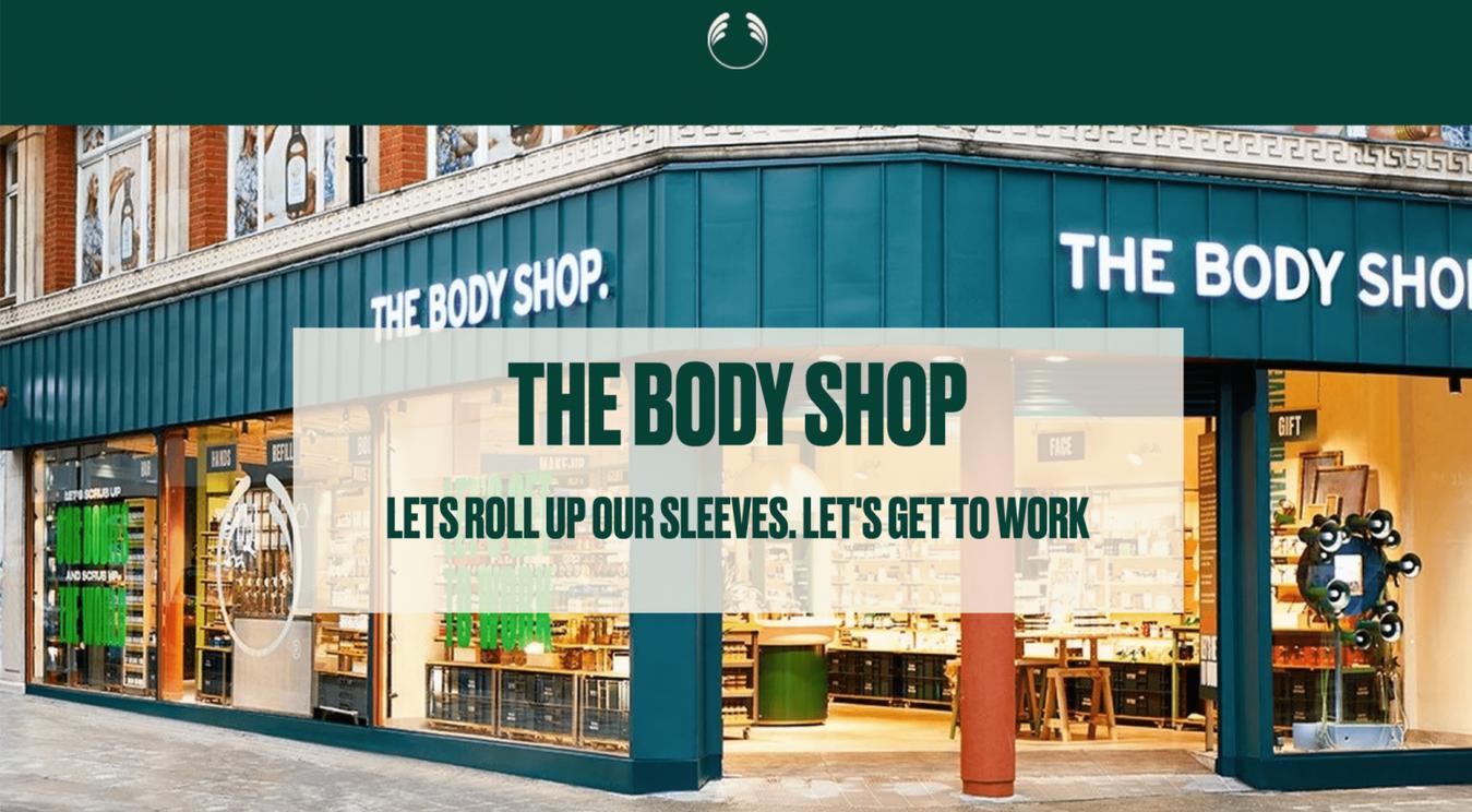 The body shop startpagina