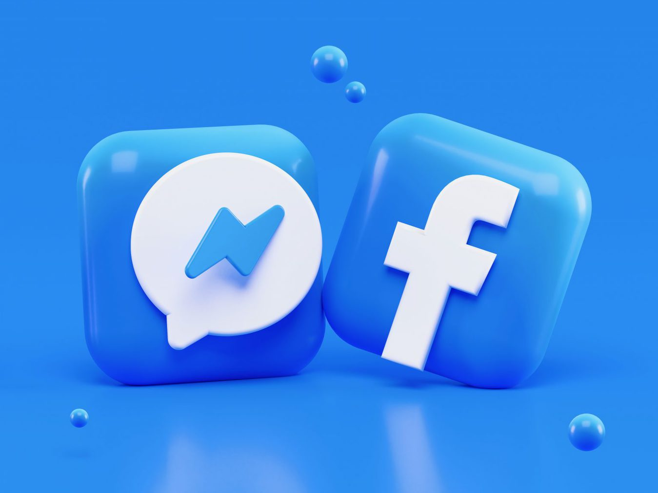 3D facebook and messenger icons