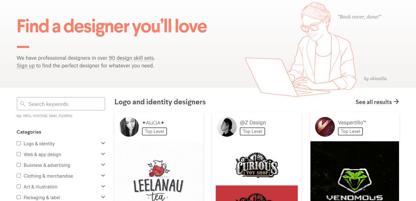 Homepage 99designs