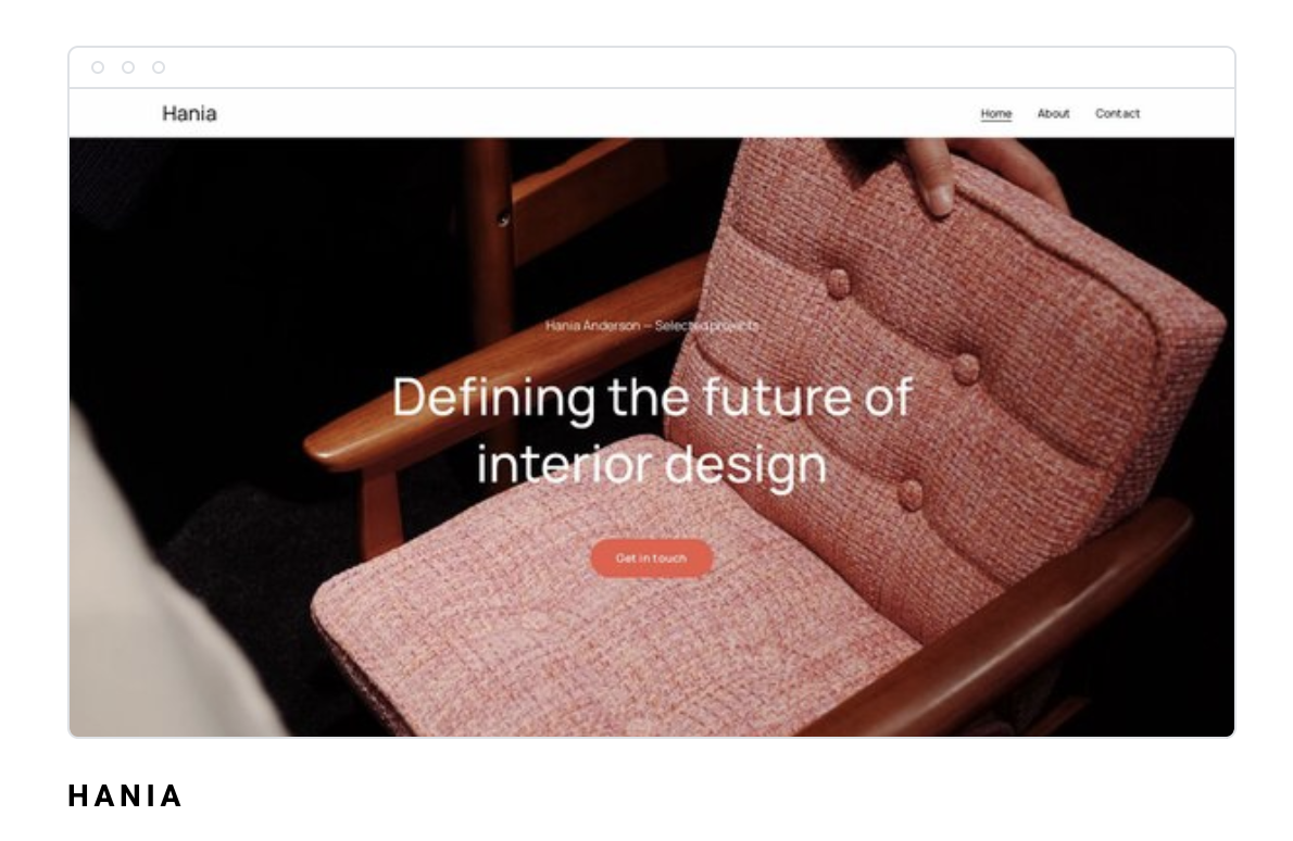 Strona internetowa Hania