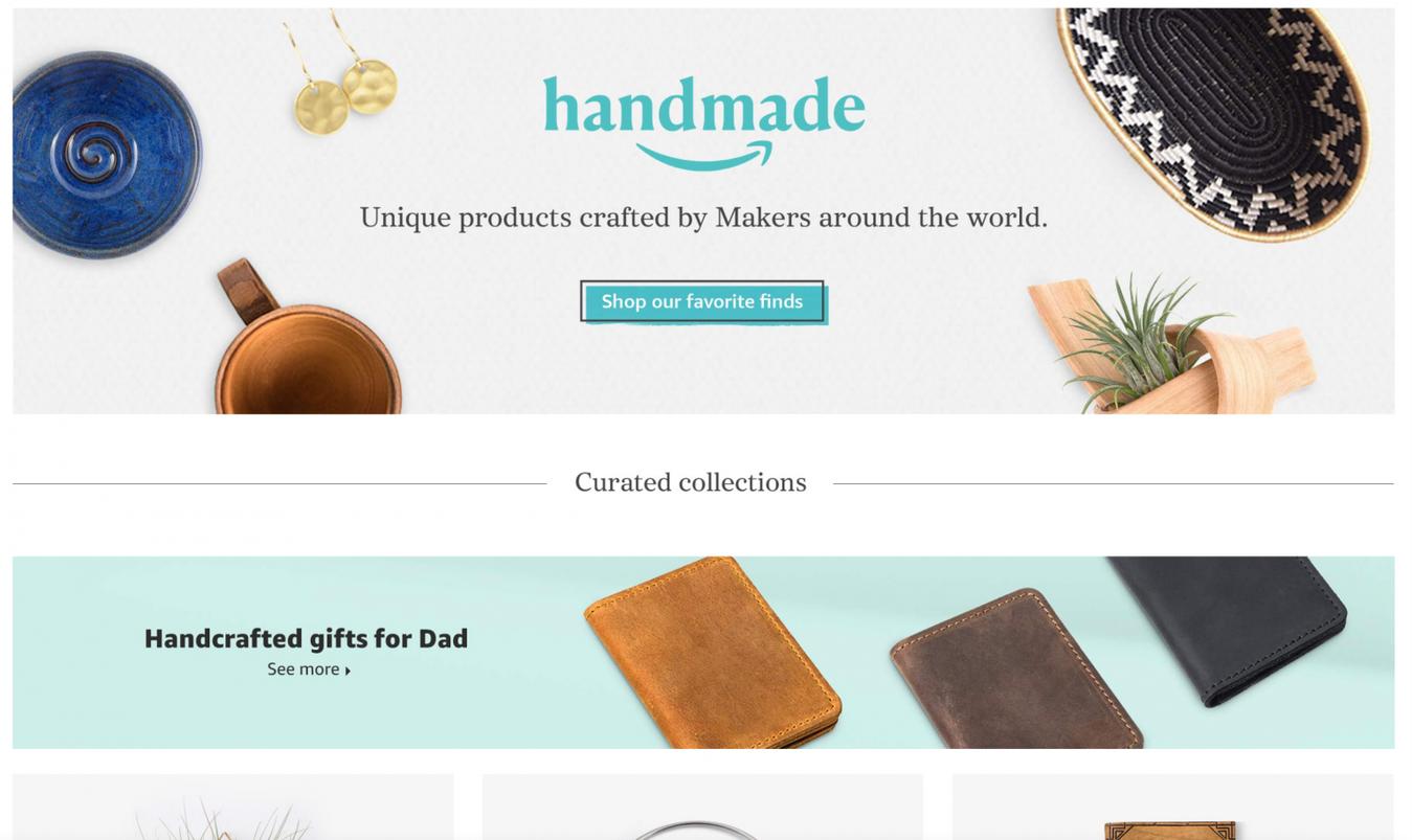 Amazon Handmade landing page