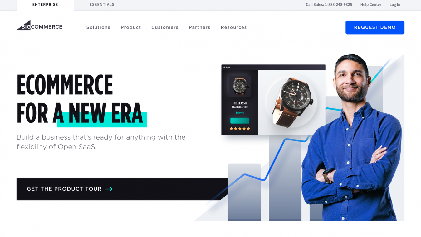 BigCommerce landing page