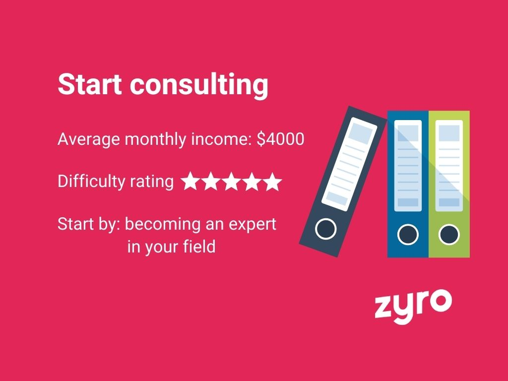 Consulting infographic