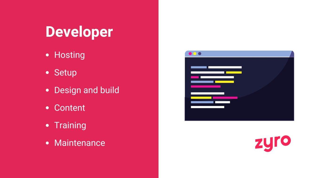Developer infographic