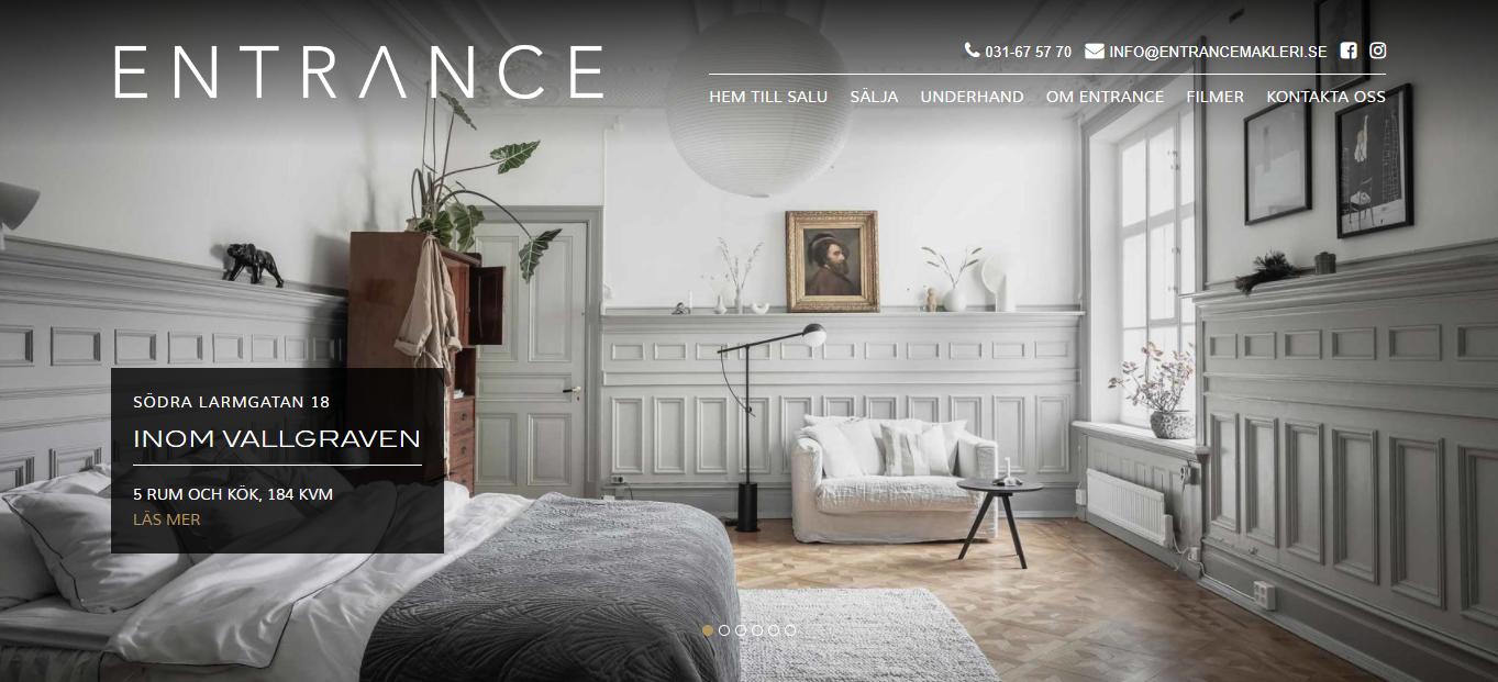 entrance makleri website homepage