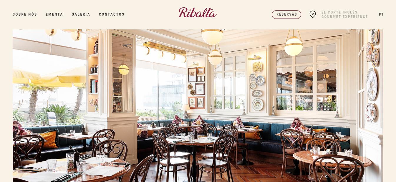 ribalta pizza restaurant homepage