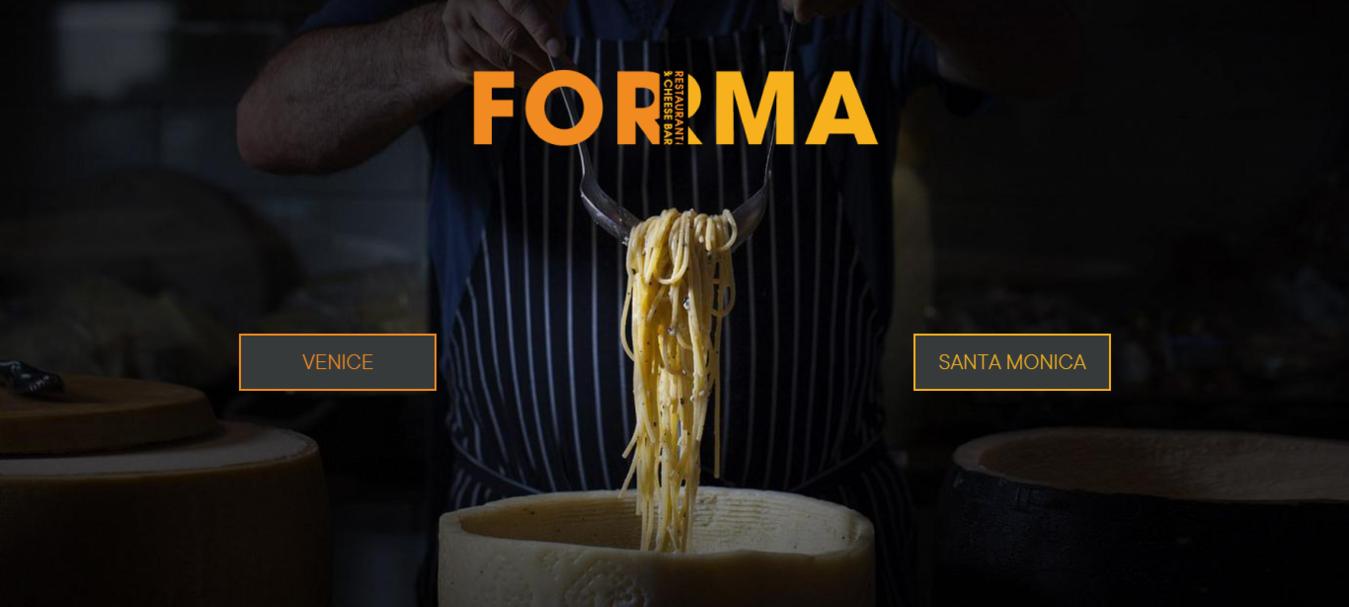 forma restaurant landing page
