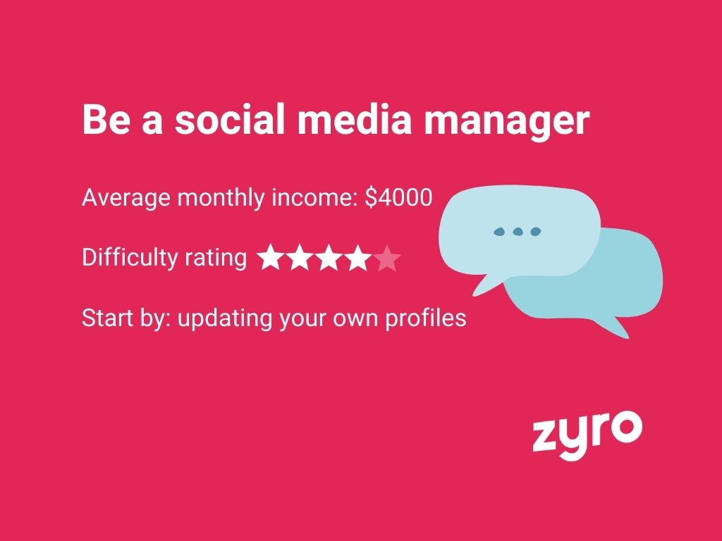 Infografica manager di social media