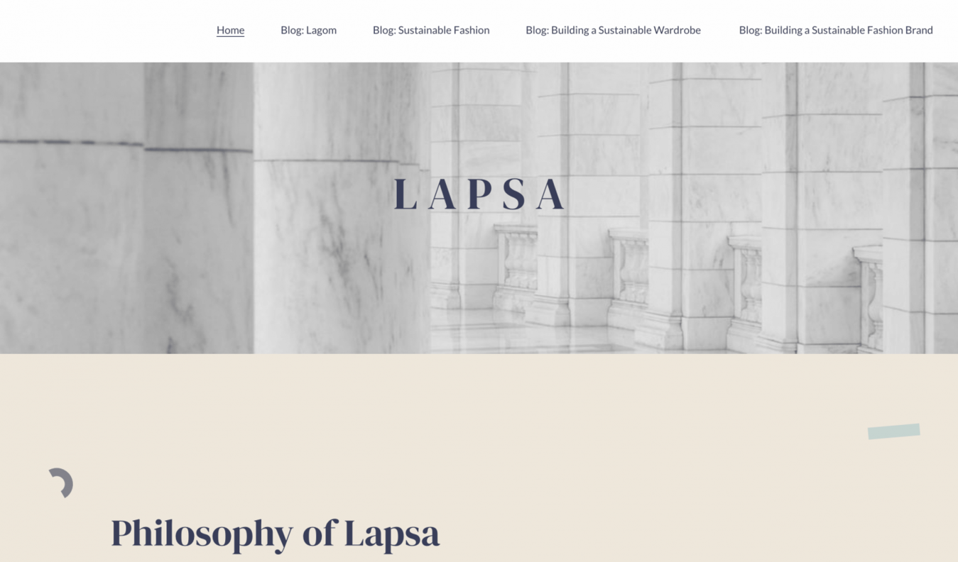 Landing page da marca Lapsa