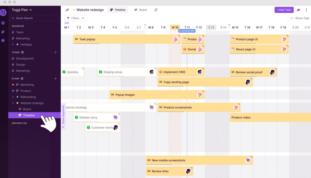 Aplikasi bisnis Toggl