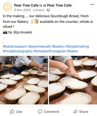 Pagina facebook di Pear Tree Cafe