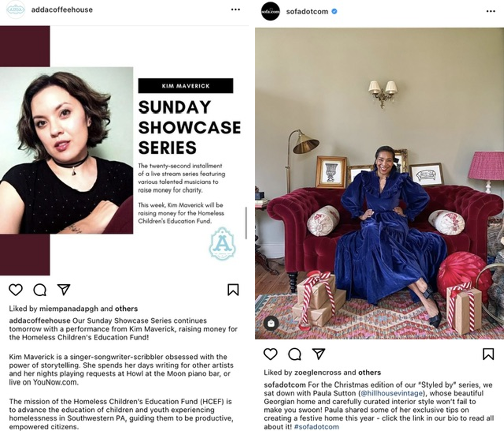 Screenshot serie Instagram