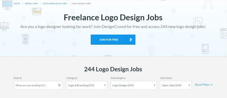 Site de freelancer DesignCrowd