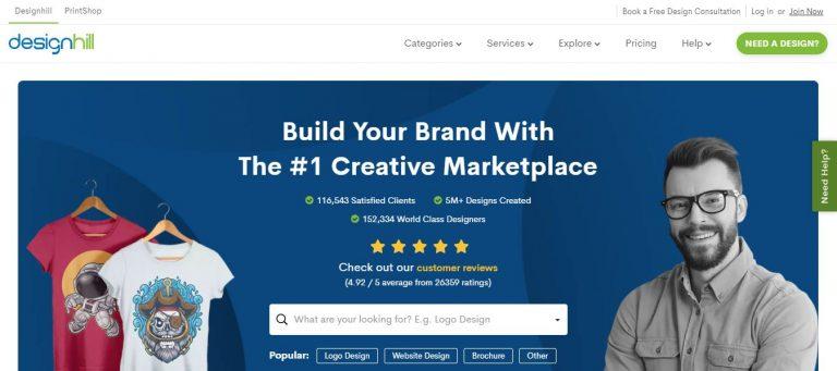 Site de freelancer Designhill