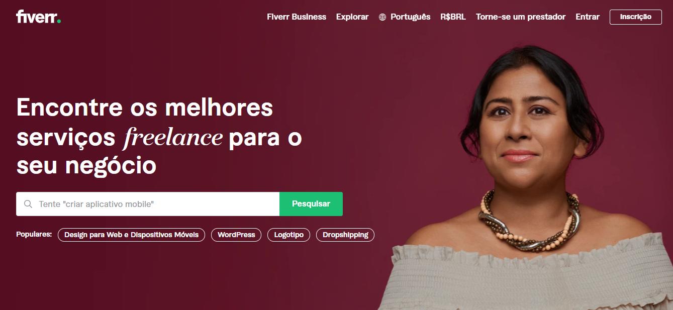 Site de freelancer Fiverr
