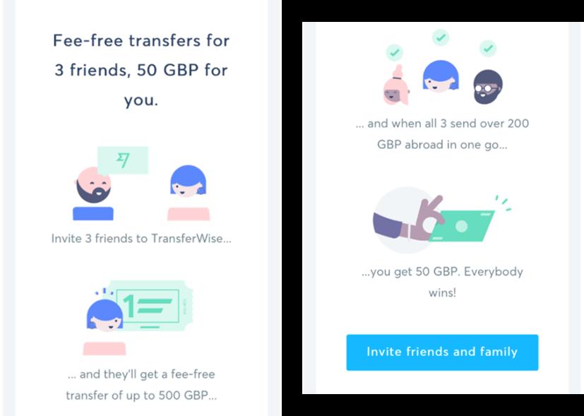 Transferwise e-mail nieuwsbrief