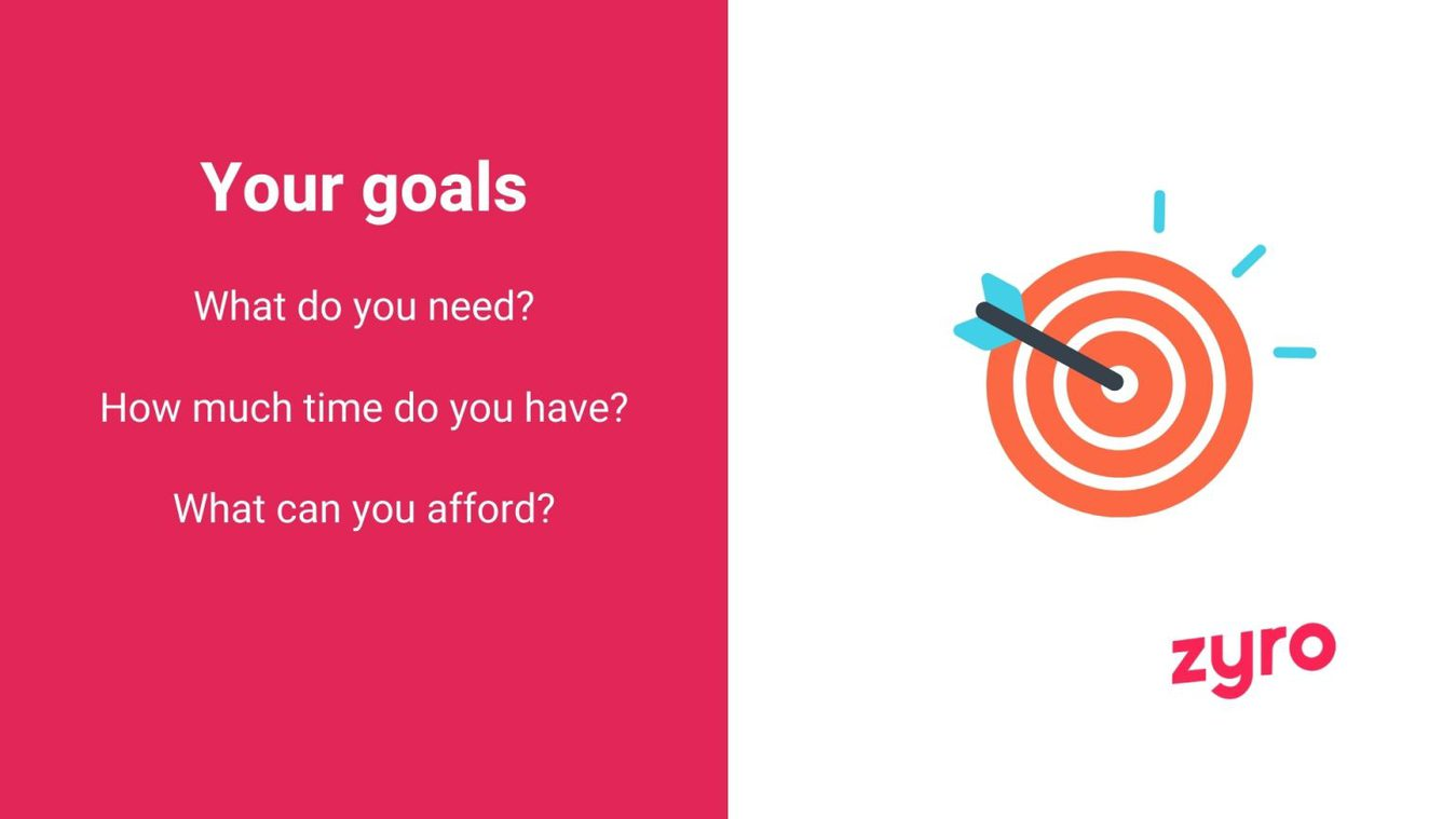 Your goals for your website infographic