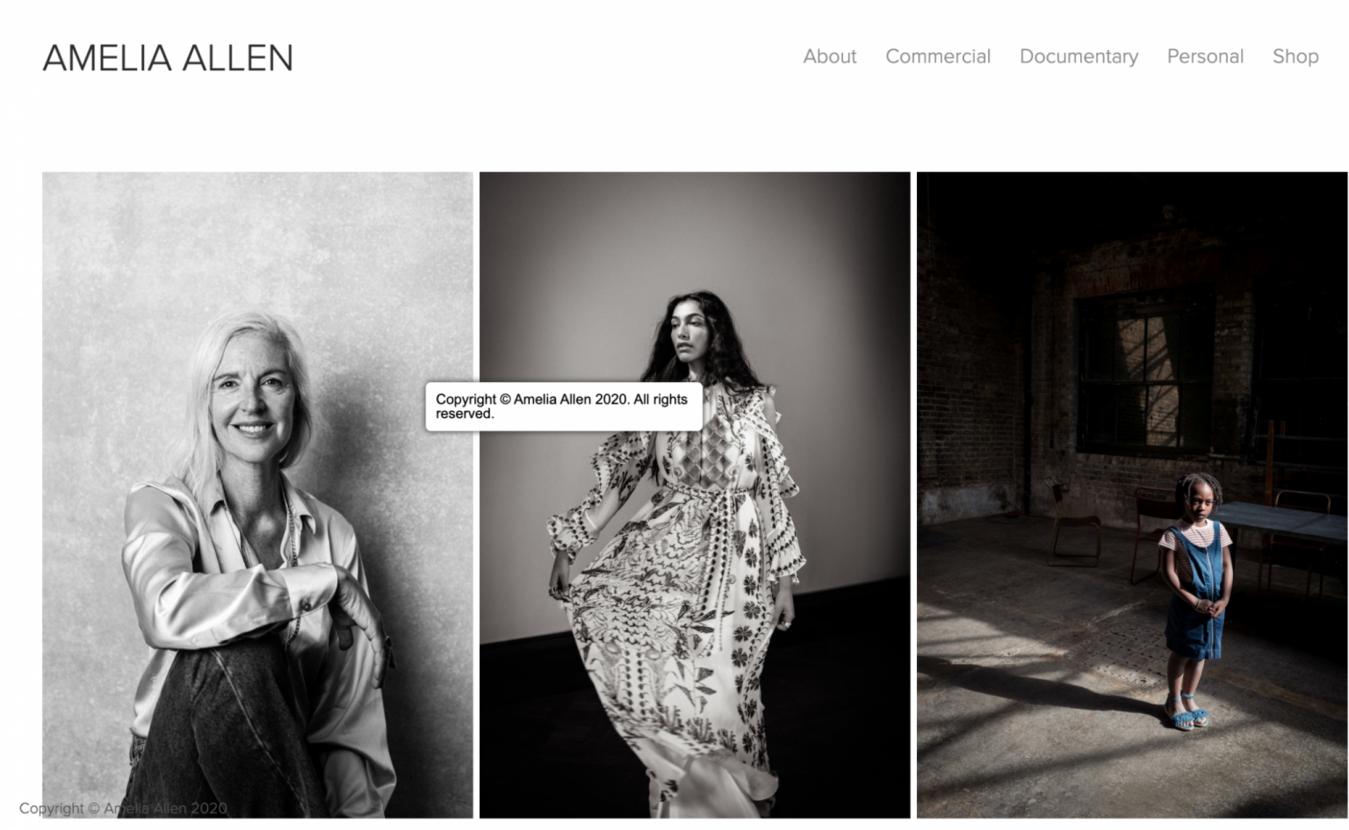 Amelia Allen home page
