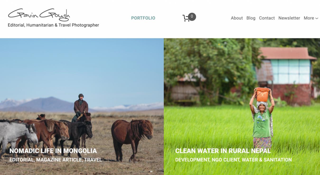 Gavin Gough home page