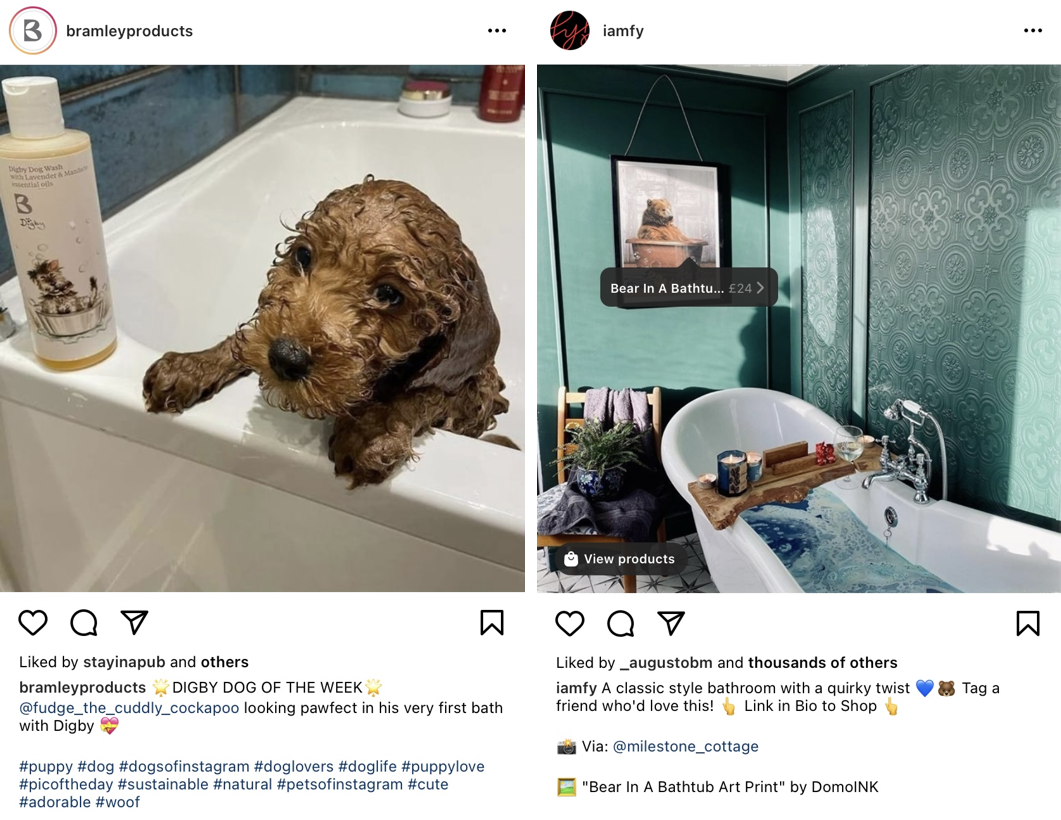 Exemplo de postagem criada por seguidores no Instagram