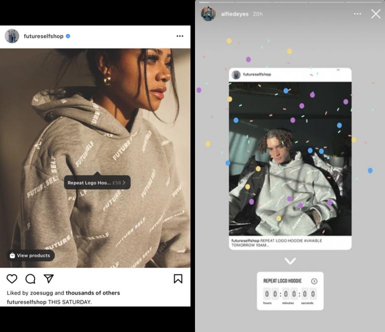 Exemplo de post sobre lançamento no Instagram