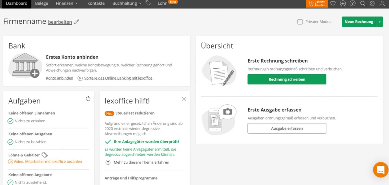 LexOffice Dashboard