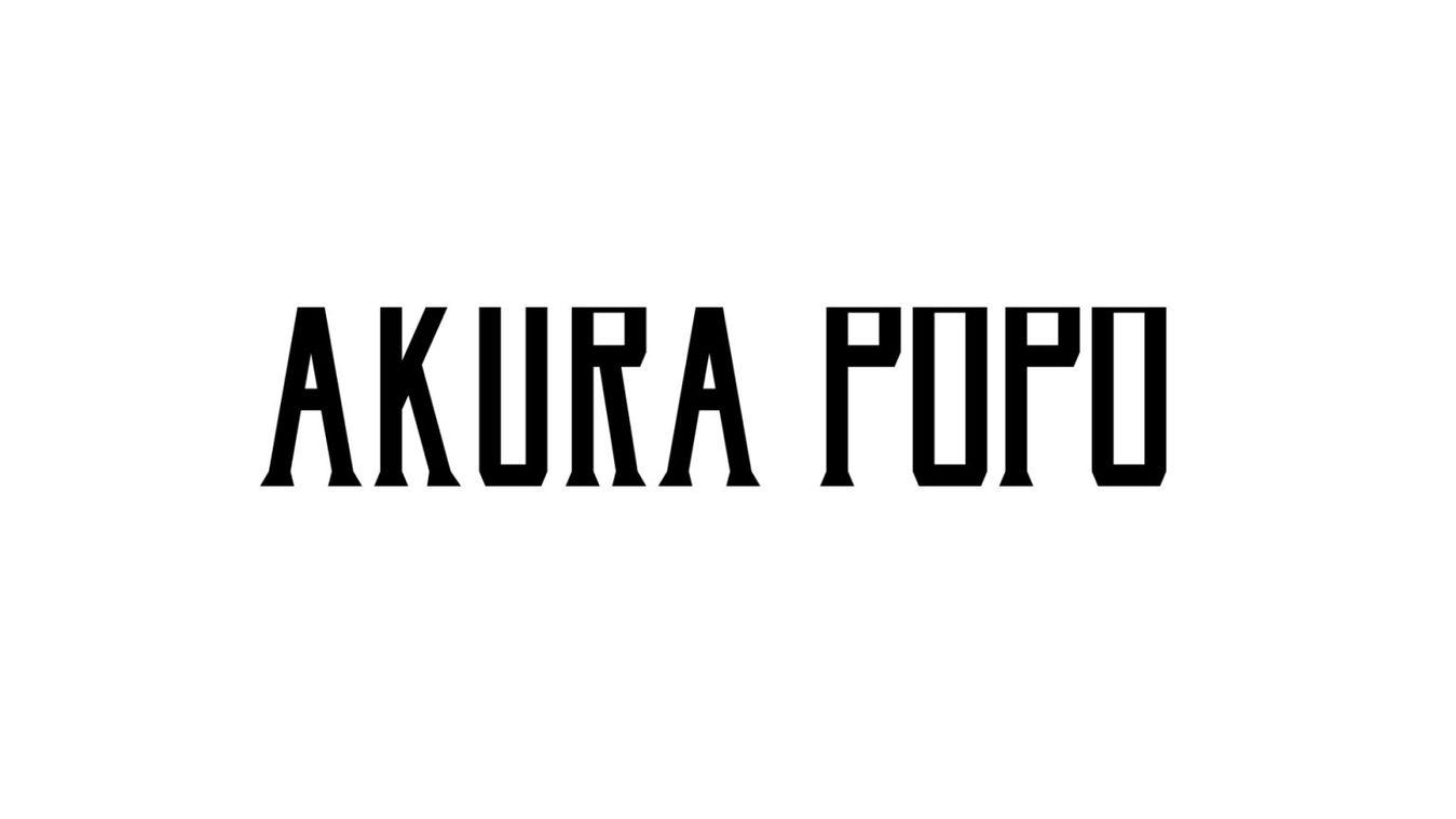 Akura Popo font example