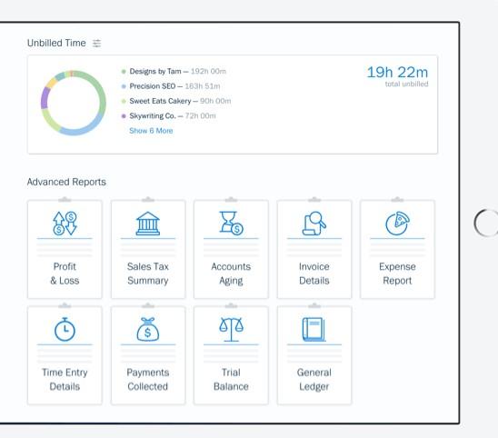 interface do aplicativo de controle financeiro Fresh Books