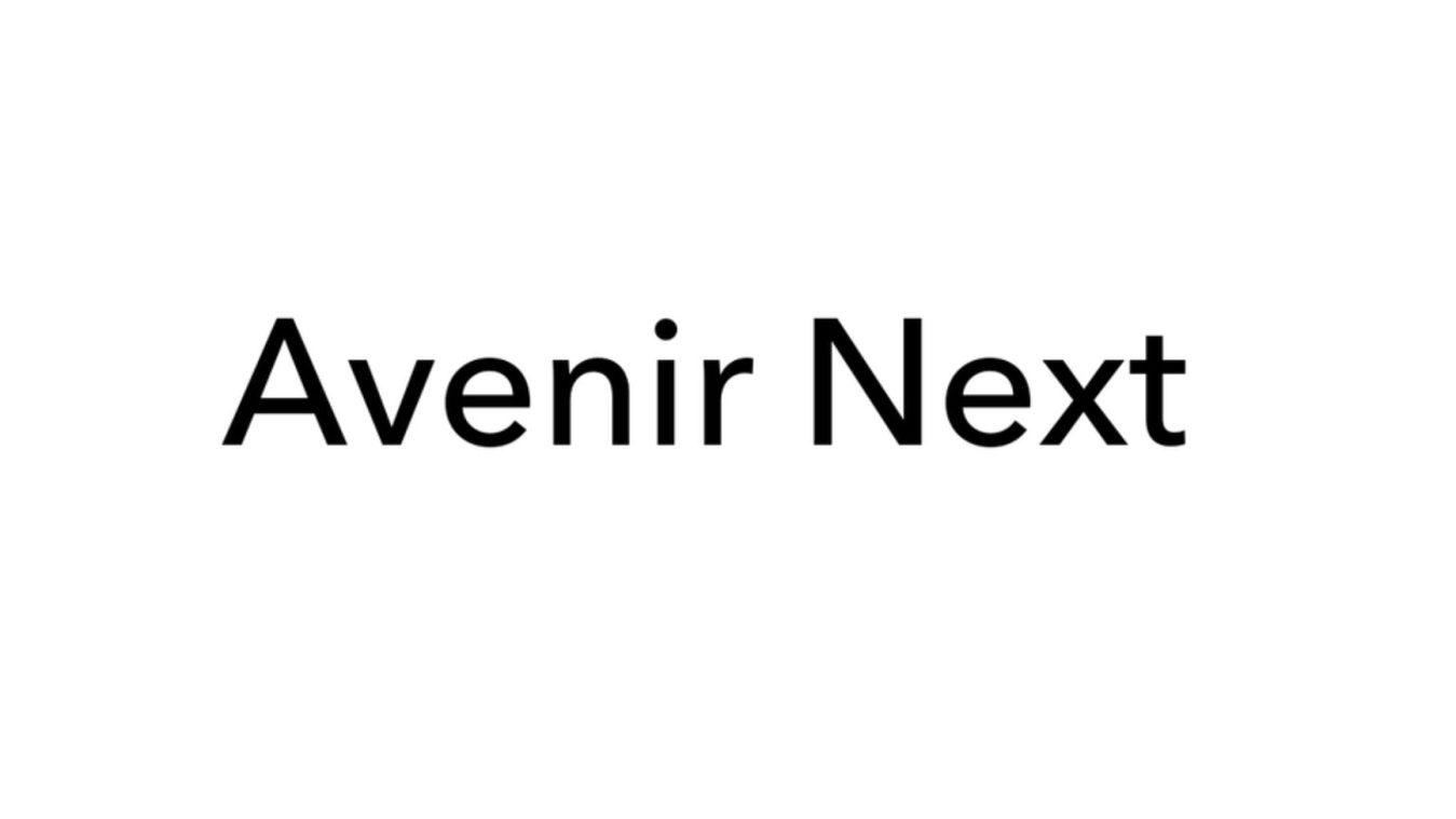 Avenir Next font example