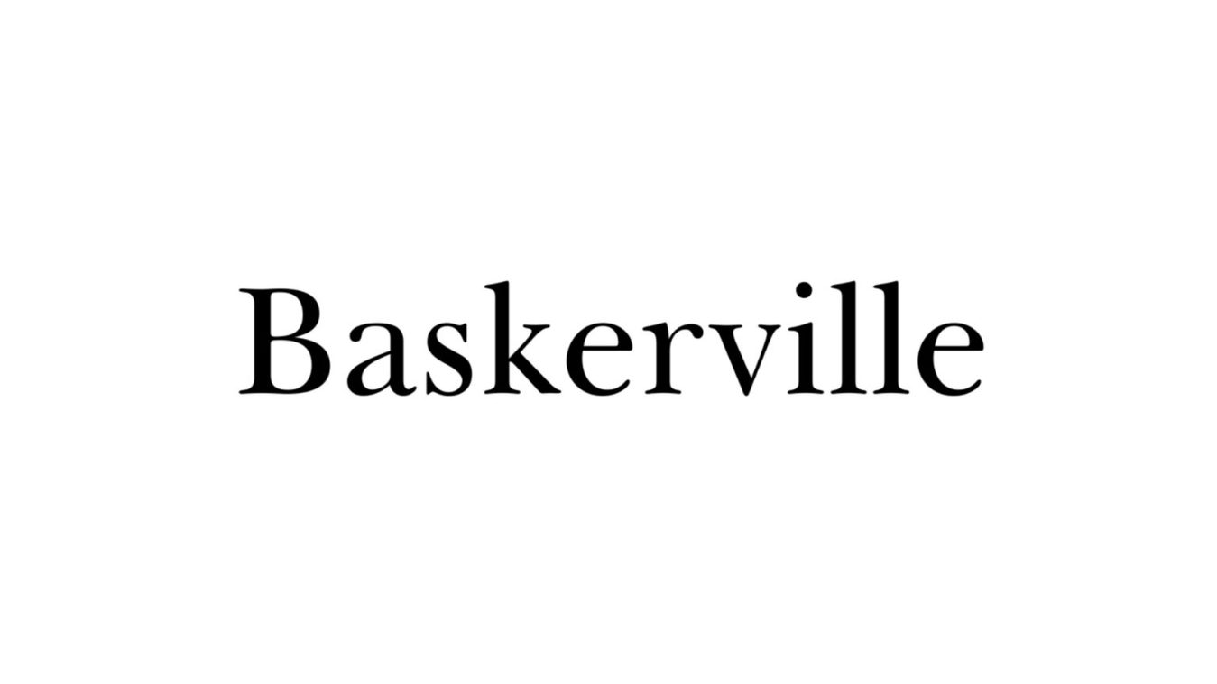 Baskerville font example