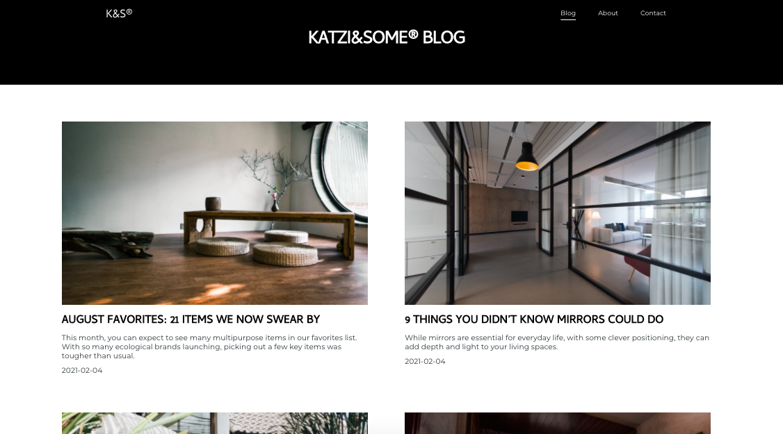 Esempio blog personale