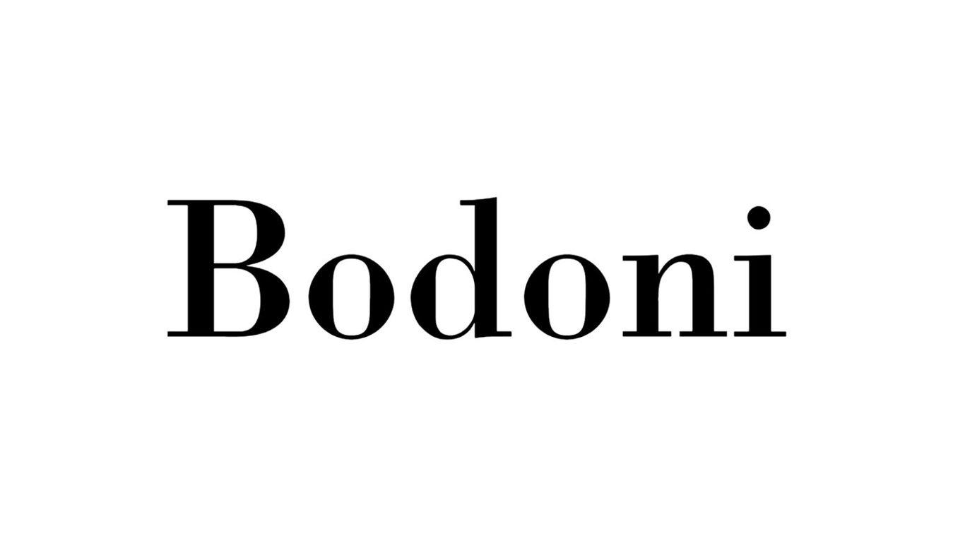 Bodoni font example