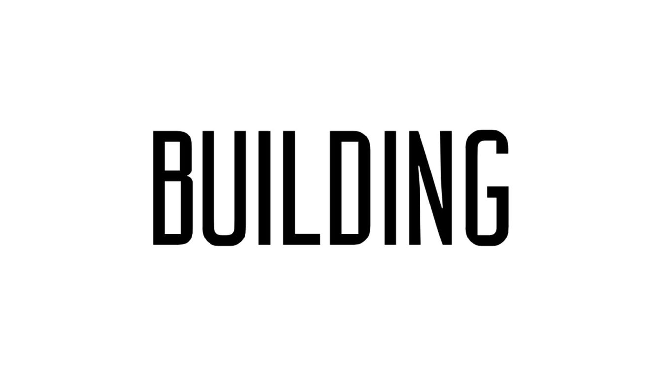 Building font example