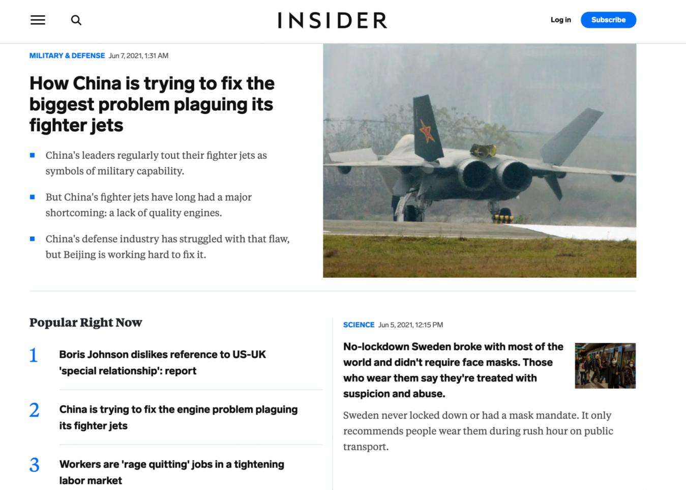 Business Insider Zielseite