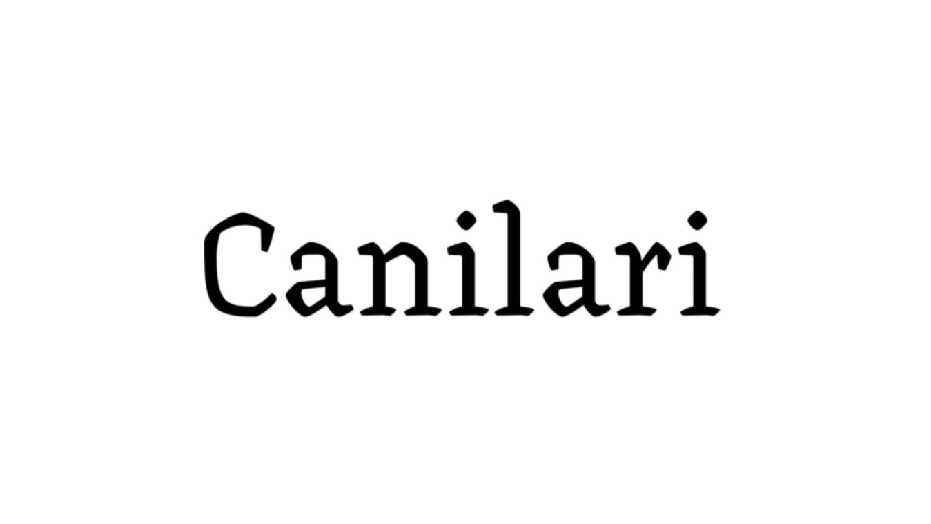 Canilari font example