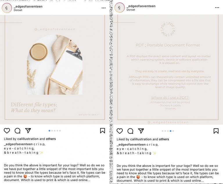 Format Carousel di Instagram