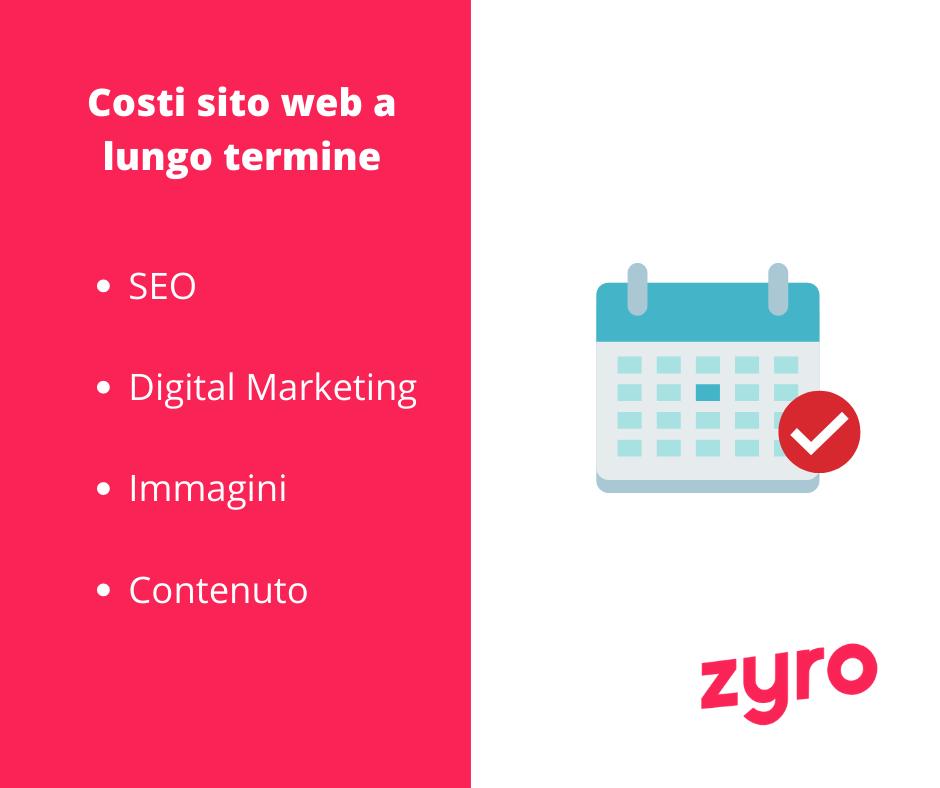 Costi sito web a lungo termine
