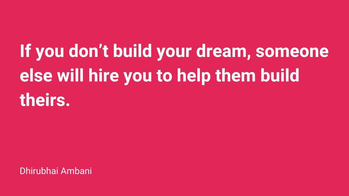 Dhirubhai Ambani quote