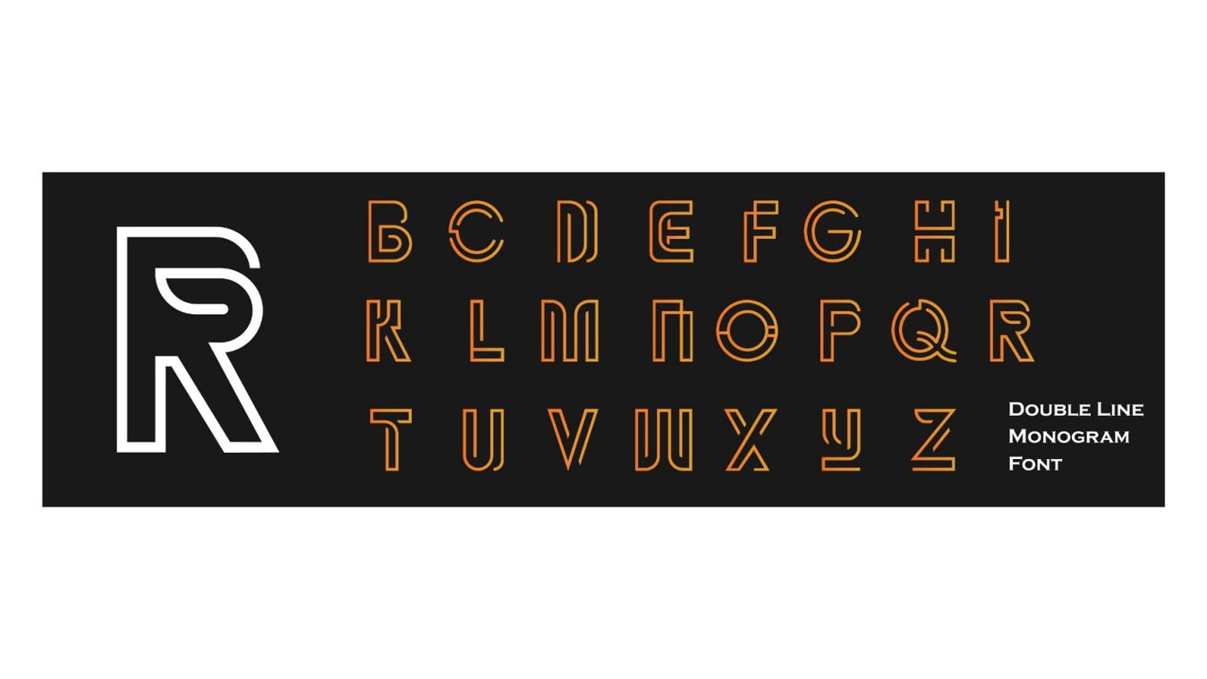 Double Line font example