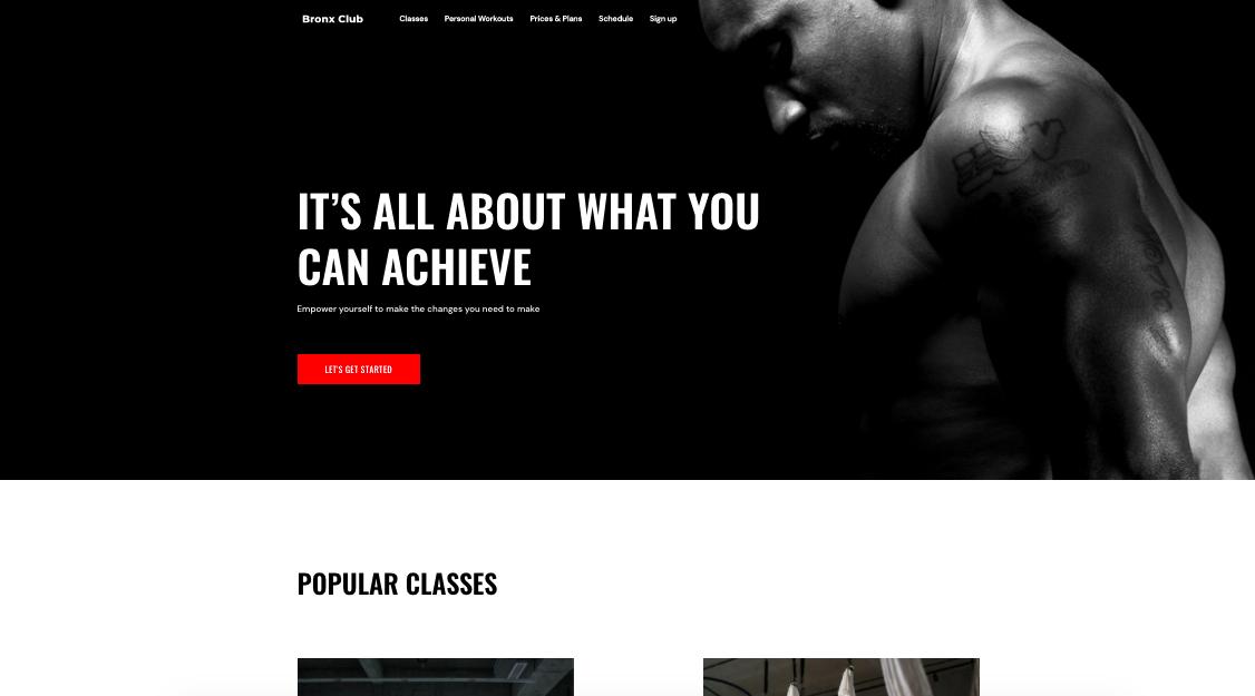 Exemplo de site informativo com fins lucrativos