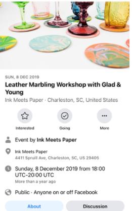 Página de Facebook da empresa Ink Meets Paper