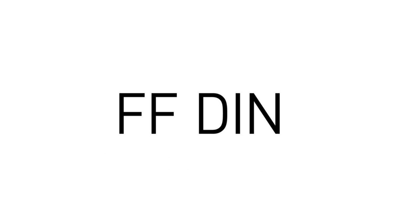 FF Din font example