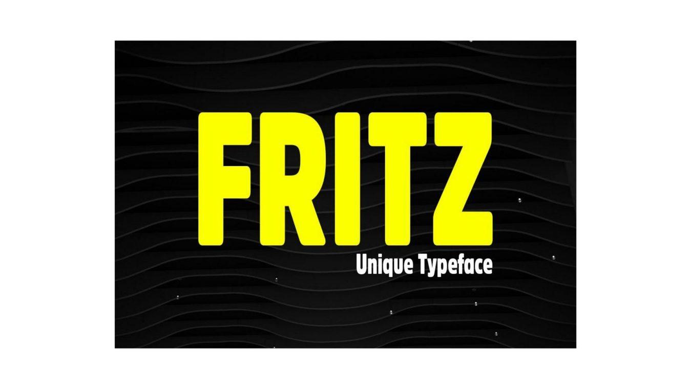 Fritz font example